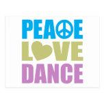 Danza del amor de la paz postal