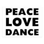 Danza del amor de la paz postales