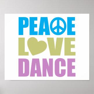 Danza del amor de la paz póster