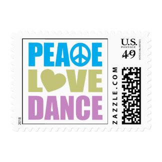 Danza del amor de la paz franqueo