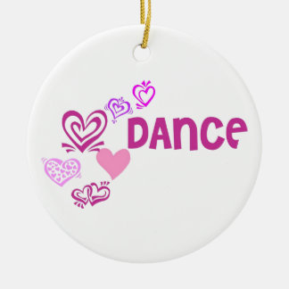 Danza del amor adorno redondo de cerámica