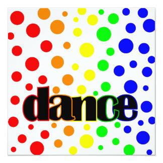 """Danza del arco iris invitación 5.25"""" x 5.25"""""""