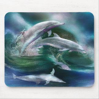 Danza del arte Mousepad de los delfínes