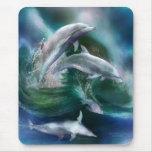 Danza del arte Mousepad de los delfínes Tapetes De Ratón