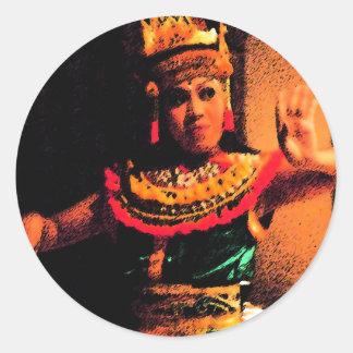 Danza del Balinese Pegatina Redonda