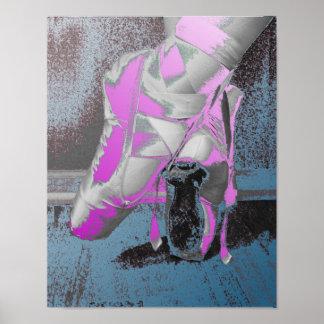 Danza del ballet de los zapatos de Pointe Posters