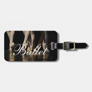Danza del ballet el | de las bailarinas el | del etiqueta para equipaje