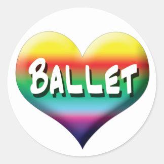Danza del ballet inmóvil y imanes etiqueta