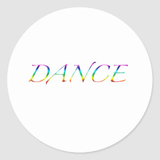 Danza del ballet inmóvil y imanes etiquetas