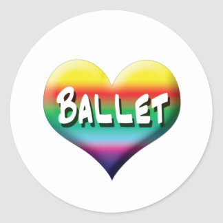 Danza del ballet inmóvil y imanes pegatinas redondas