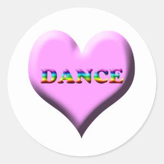 Danza del ballet inmóvil y imanes pegatina