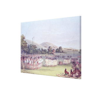 Danza del Bola-Juego del Choctaw, 1834-35 Lienzo Envuelto Para Galerías