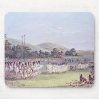 Danza del Bola-Juego del Choctaw, 1834-35 Alfombrillas De Ratón