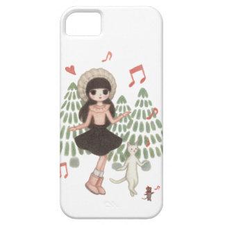 Danza del bosque del invierno iPhone 5 fundas