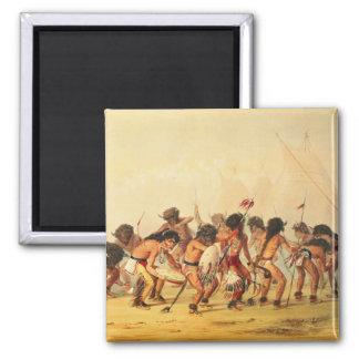 Danza del búfalo, c.1832 imán para frigorifico