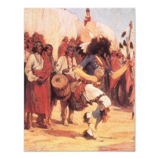 Danza del búfalo de Cassidy, nativos americanos Invitación 10,8 X 13,9 Cm