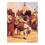 Danza del búfalo de Gerald Cassidy, bailarines del Tarjetas Postales
