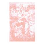 DANZA del CARNAVAL, blanco rosado antiguo suave Papeleria