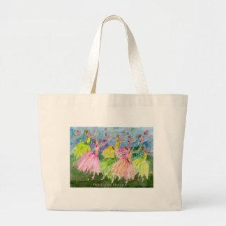 Danza del cascanueces de las flores bolsa tela grande