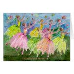Danza del cascanueces de las flores felicitación