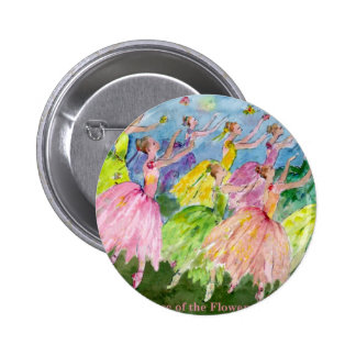 Danza del cascanueces de las flores pin redondo 5 cm