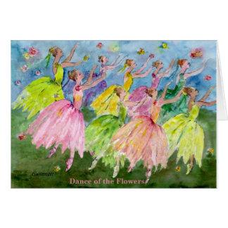 Danza del cascanueces de las flores tarjeta de felicitación