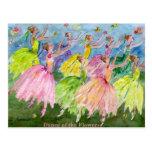 Danza del cascanueces de las flores tarjeta postal