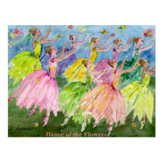 Danza del cascanueces de las flores tarjetas postales