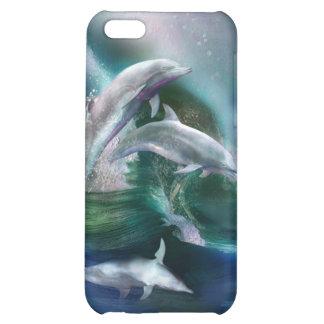 Danza del caso del arte de los delfínes para el iP