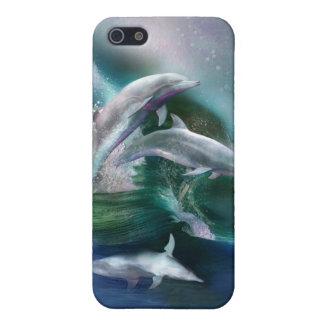 Danza del caso del arte de los delfínes para el iP iPhone 5 Fundas