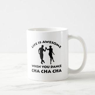danza del cha del cha del cha taza de café