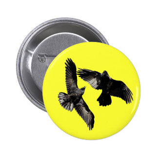 Danza del cuervo pin redondo de 2 pulgadas