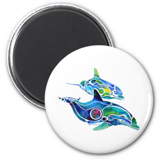 Danza del delfín iman de nevera