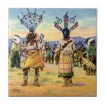 Danza del diablo de los indios de Arizona Apache Azulejo Ceramica