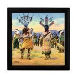 Danza del diablo de los indios de Arizona Apache Caja De Joyas