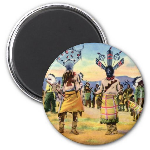 Danza del diablo de los indios de Arizona Apache Iman De Nevera