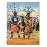 Danza del diablo de los indios de Arizona Apache Libretas