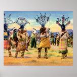 Danza del diablo de los indios de Arizona Apache Impresiones