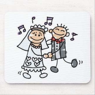 Danza del dibujo animado del boda tapetes de ratones
