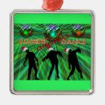 Danza del disco del navidad del zombi adornos de navidad