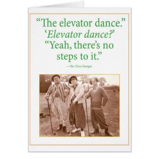 Danza del elevador tarjeta de felicitación