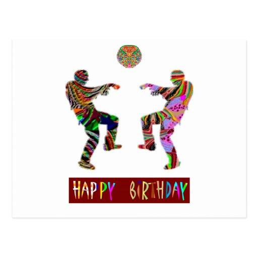 Danza del feliz cumpleaños postales