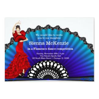 """Danza del flamenco invitación 5"""" x 7"""""""