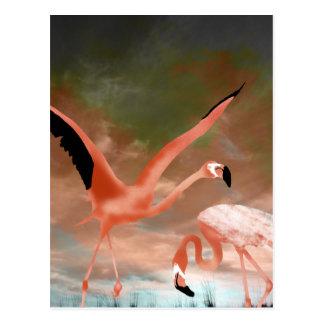 Danza del flamenco postal