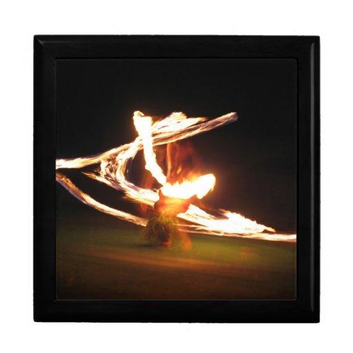 Danza del fuego de Hawaii Cajas De Recuerdo