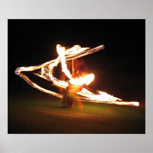 Danza del fuego de Hawaii Posters