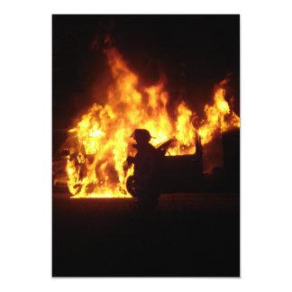 """Danza del fuego invitación 5"""" x 7"""""""