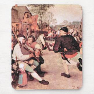 Danza del granero de Pieter Bruegel Tapete De Ratones
