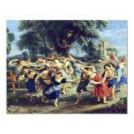 """Danza del granero de Rubens Peter Paul (la mejor Invitación 4.25"""" X 5.5"""""""