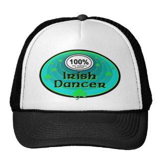 Danza del irlandés del 100% gorras de camionero